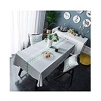 テーブルクロス 防水、熱傷防止、耐油性刺繍、長方形の綿のテーブルクロス、4色、9サイズ (Color : A, Size : 120*160cm)