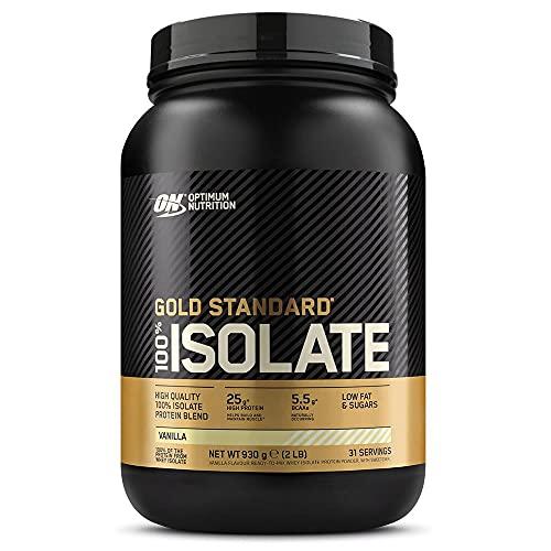Optimum Nutrition 100% Gold Standard Isolate, Proteina Whey Isolate en Polvo para Aumentar Masa Muscular, Proteina Isolada, Vainilla, 31 Porciones, 930 g