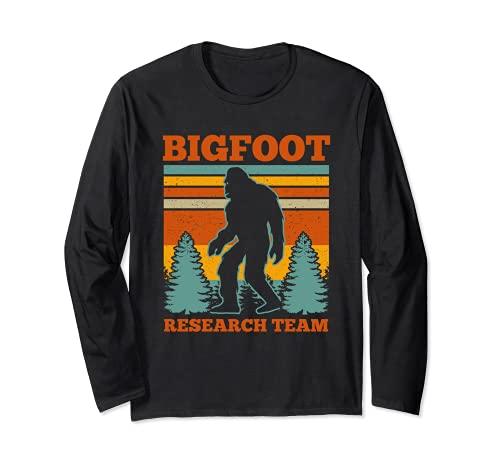 Bigfoot Equipo de Investigación Bigfoot Sasquatch Funny Bigfoot Manga Larga