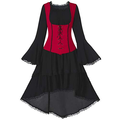 SALUCIA Damen Mittelalter Gothic Kostüm Elegant Retro Kleider Gewand Viktorianisches Renaissance Prinzessin Barock Rokoko Kleidung SA212