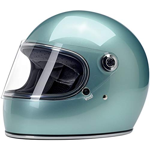 Casco integral Biltwell Gringo S Metallic Sea Foam homologado doble homologación ECE (Europa) & DOT (America) Helmet Biker Custom Vintage Retro Año: 70 Talla XS