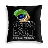 WH-CLA Cushion Cover Astro Bot Rescue Mission Logo con Bot Fodere per Schienale Divano Durevole Fodere per Cuscino Uniche per Ufficio 45X45Cm Divano Cerniera per Divano Federe Morbide Cu