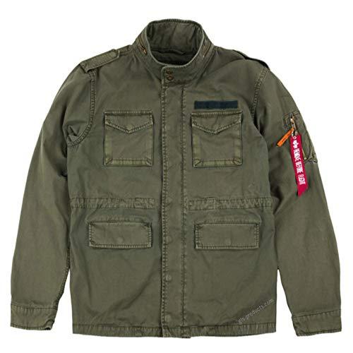ALPHA INDUSTRIES Huntington Field Jacket leichte Feldjacke aus Baumwolle mit vielen Taschen gefüttert, Größe:XL, Farbe:Dark Olive