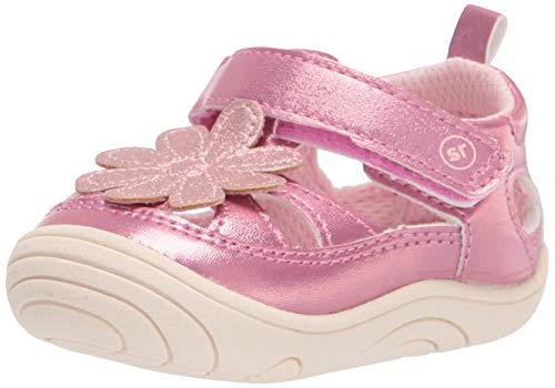 Stride Rite 360 Baby Girls Alicia First Walker Shoe, Pink, 4 Infant