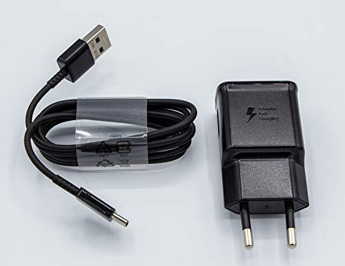 Samsung Schnellladegerät Ladegerät EP-TA200 2A Schwarz mit USB Typ C Kabel EP-DG950
