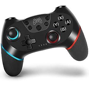 Mando para Nintendo Switch, Vinsic Controlador Bluetooth Inalámbrico, apoya dualshock, Turbo y Giroscopio, Recargable de Batería 500mAh, Controlador para Nintendo Switch/Nintendo Switch Lite