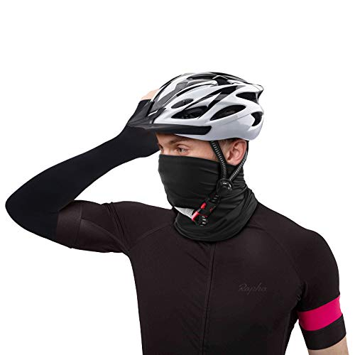 TENOL Bicycle Accessories Helmet Bicycle Helmet Adjustable Mountain Bike Helmet Neck Scarf Multifunctional Cloth Motorcycle Mask Arm Warmers Sleeve for Women and Men