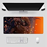 BOIPEEI Mouse Pads Anime Girl and Tiger RGB Gaming Mouse Pad Led Lighting USB Port Durable Stitch Edges Keyboard Laptop Mice Pad for Gamer Gaming(30x80cm) L188