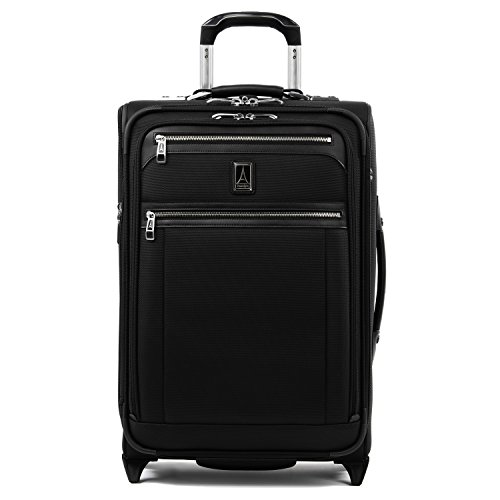 Travelpro Platinum Elite-Softside Expandable Upright Luggage, Shadow Black, Carry-On 22-Inch