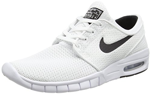 Nike Unisex-Erwachsene Stefan Janoski Max Low-Top, Weiß (100 WHITE/BLACK), 39 EU