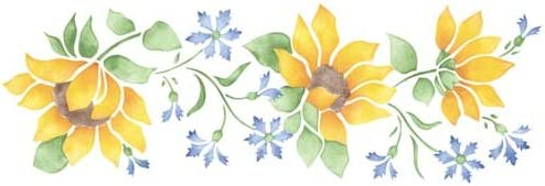 Designer Stencils Sunflower Wall Cheap #1777 Over item handling ☆ Stencil SKU