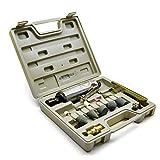 Toolzone - Juego de amoladora recta neumática con accesorios (incluye maletín)