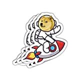 Dogecoin Sticker Astro Rocket (Pack of 3 + Bonus) Premium Vinyl Decal for Fans of Dogecoin, Doge, Cryptocurrency, Crypto, Blockchain, Bitcoin, Wallstreetbets, Gamestop, Stonks