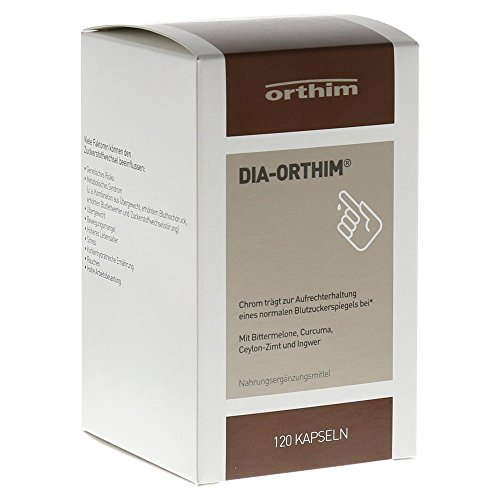 Dia-orthim® - 120 Stk. - Nahrungsergänzungsmittel mit Bittermelone, Curcuma, Ceylon-Zimt, Ingwer und Chrom(III)
