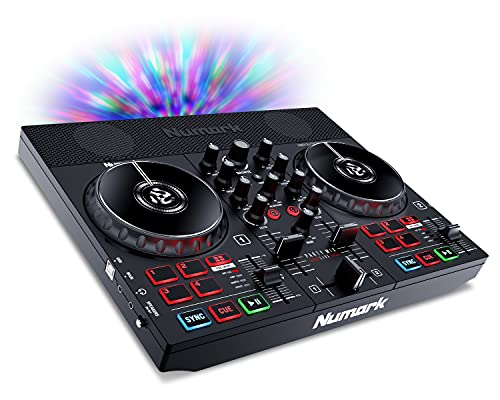 Numark Party Mix Live - DJ Controller with Built in Speakers, Party Lights and DJ Mixer, Complete Dj Set with Mixer and Audio Interface + Serato DJ Lite