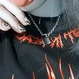 AdorabFruit Présent Pendentif Mujeres Hombres Joyas Collar Colgante de Color Plata Nuevo Collar de Cadena de Cable de Acero Inoxidable Regalos de Novio de Niña (Color : 1, Size : 45cm)