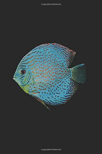Discus: Notebook 6x9 Dot Grid Paper Journal 120 Pages • Manuscript • Planner • Scratchbook • Diary Discus Discusfish Aquarium Cichlid