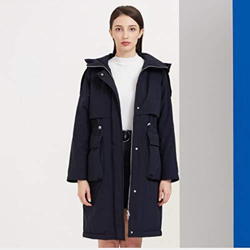 Witte eend donsjack, buiten sporten, vrouwen donsjack Mid-length winter donsjack 1PC (Color : Navy, Size : M)
