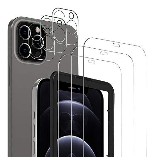 MSOVA Vetro Temperato Compatibile con iPhone 12 PRO Max, 3 Pezzi...