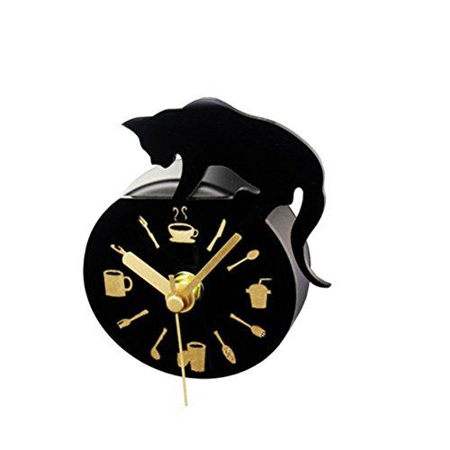 WINOMO - Orologio magnetico per frigorifero, con motivo di gatto