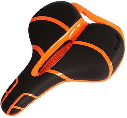 HLD Fahrradsitz Komfortabler Ersatz Fahrrad-Sattel for Erwachsene Kinder Mountainbikes Rennräder Orange Schwarz Sättel