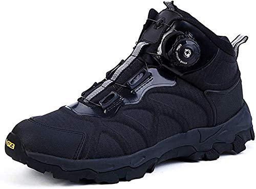 Herren Militärstiefel Dschungelstiefel Schnellreaktionsstiefel Wanderschuhe Atmungsaktiv Kampfschuhe Sicherheit Outdoor Kletterschuhe BOA System-EU42/US9_Schwarz iteration