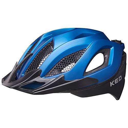 KED Spiri Two M Blue Black matt - 52-58 cm - inkl. RennMaxe Sicherheitsband - Fahrradhelm Skaterhelm MTB BMX Erwachsene Jugendliche