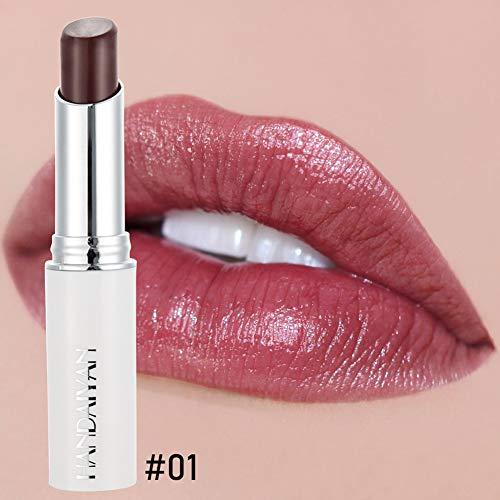 ETbotu Rose Essence Moisturizer Lip Balm Natürlicher anhaltender Lippenbalsam 01 (Beerenfarbe)