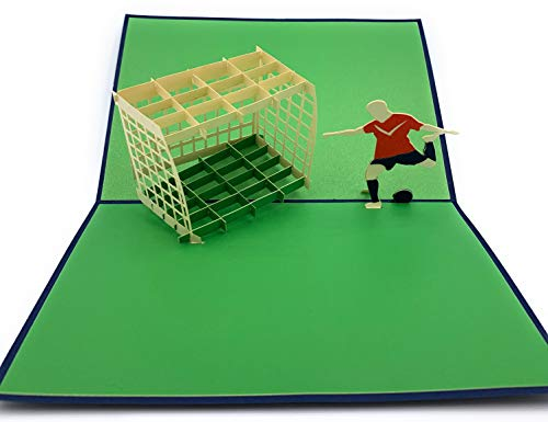Perfect voetbal fan gift - 3D pop up voetbal speler kaart ideaal voor toernooi winnaars UEFA Champions League Barcelona Real Madrid Manchester United PSG Juventus LA Galaxy Beckham Cristiano Ronaldo fans