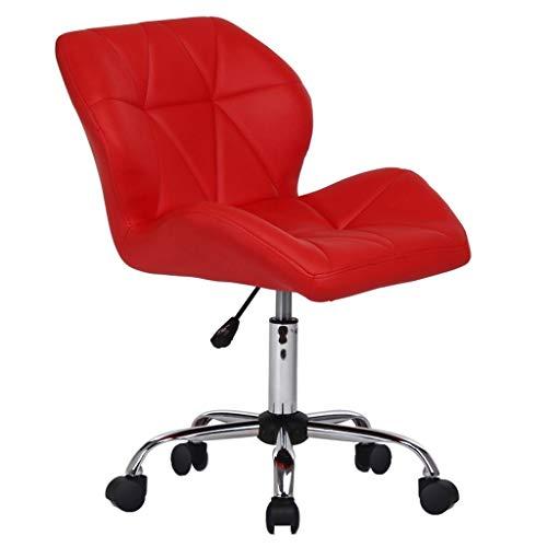 Chaise Fauteuil Roulant, Dossier Rotatif, Ordinateur Paresseux Simple, Bureau à Domicile décontracté, Multicolore MUMUJIN (Couleur : Rouge)