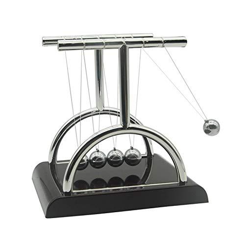 Newton's Cradle Balance Ball Pendulum Balls Swinging Balls Physics Science Desk Toys Newtons Balls for Desk Gadgets Office Desk Decorations Toys T-Shape (M)
