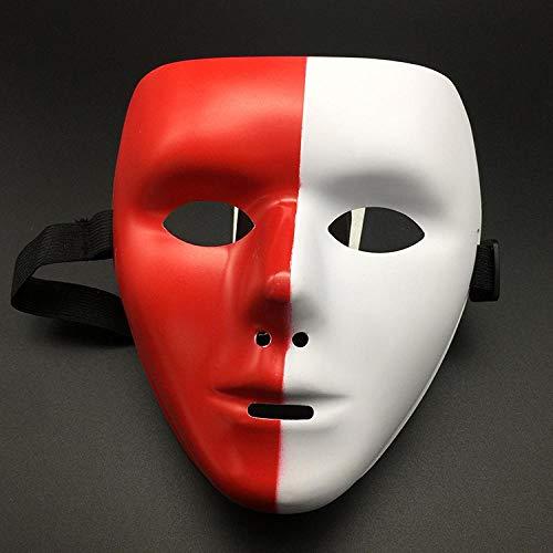 XWYWP Halloween Maske Halloween Jabbawockeez Maske Tanz Maske Ball weiße Straße Tanz Maske für Männer und Frauen 6