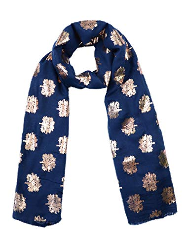 Mulberry Tree Print Scarf Womens Shawl Wrap Ladies Long Scarf Lightweight Fashion sc07-navy