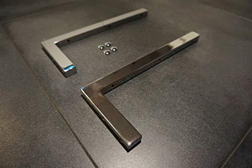 Carl Svensson Chrom Handtuchhalterung Wandhalterung Waschtischplatte Regalträger Konsolenhalterung mit Abdeckkappen (2X Wandhalterung)