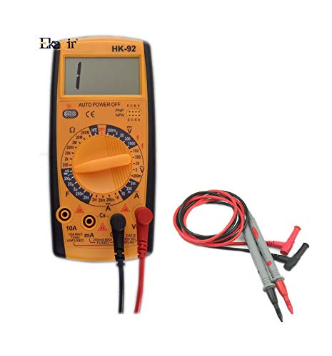 Ekavir Digital Pocket Multimeter 3 Digit, 1999 Counts, 600 AC/DC Voltage