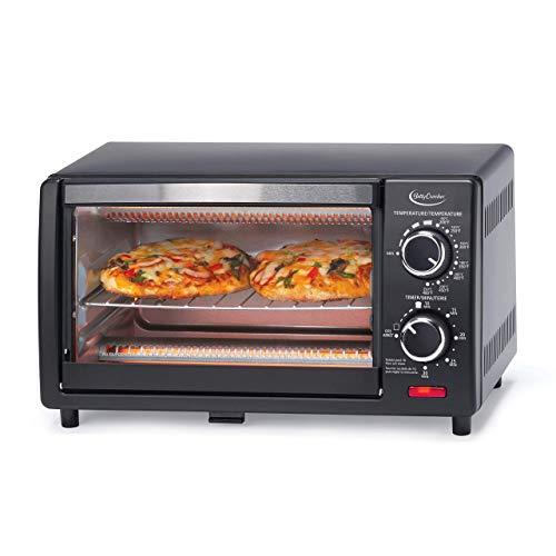 Betty Crocker BC-1664CB Toaster Oven, 0.9 L, Black (Renewed)