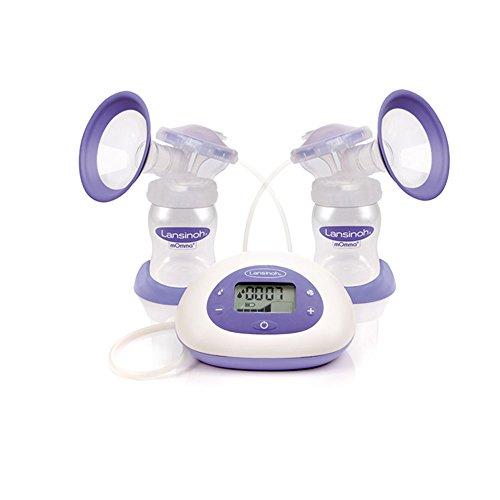 Lansinoh Elektrische Doppel-Milchpumpe, 3 Pumpmodi, regulierbare Saugstärken, 2 Phasen