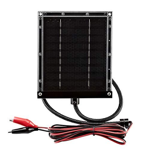 ZEALLIFE 6V 1w Solar Panel to Recharge Deer Feeder Battery Waterproof Outdoor Solar Charger with Mounting Bracket (6v Deer Feeder Solar Panel 1W)