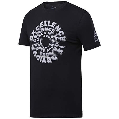 Reebok RC Excellence Is Obvious Graphic tee Camiseta de Manga Corta, Hombre, Negro (Black), S
