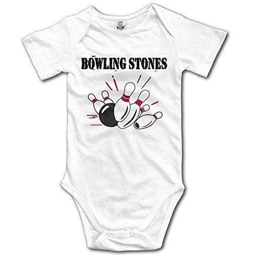 QulujianG Bowling Stones Fashion Newborn Baby Suit Climb 6 M White