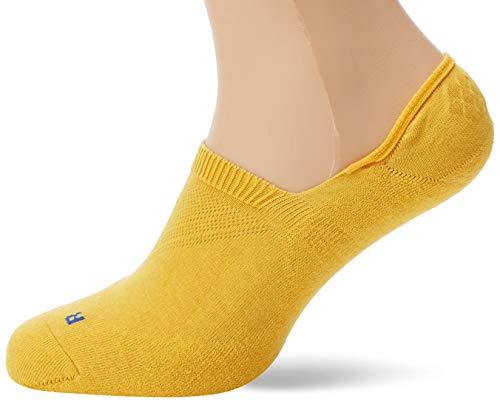 FALKE Unisex Cool Kick Invisible, Ultraleichte Plüschsohle, Rutschfest durch Silikon im Fersenbereich, 1er pack, Gelb (Mustard 1187), 46-48