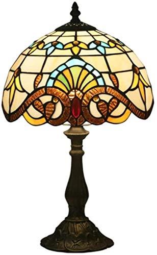 LIUYULONG Lámpara Decorativa Lámpara de Mesa de Cristal, lámpara de Noche de Dormitorio, lámpara de Mesa de iluminación Decorativa Rural Luz de Noche