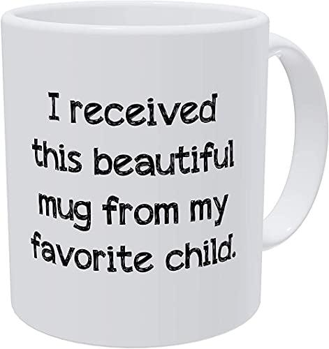 HUANGHHLL Recibí Esta Hermosa Taza De Mi Taza De Café Infantil Favorita 11 Ella Misma Divertida Taza De Café De Cerámica Taza De Cacao Regalos De Oficina Familiar-301-400Ml