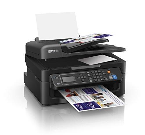 Epson Workforce WF-2630WF - Impresora multifunción de tinta (WiFi, pantalla LCD monocroma retroiluminada de 5,6 cm), color negro, Ya disponible en Amazon Dash Replenishment