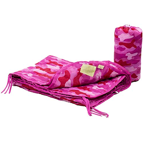 Farm Blue Tactical Camping Military Blanket - Woobie Poncho Liner - Lightweight Multifunctional All Weather Blanket Perfect for Camping Backpacking and Other Outdoor Activities - Pretty N Pink