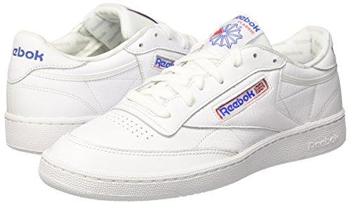 Reebok Club C 85 So, Zapatillas de Deporte para Hombre, Blanco (White / Lgh Solid Grey / Vital Blue / Prml Red), 39 EU