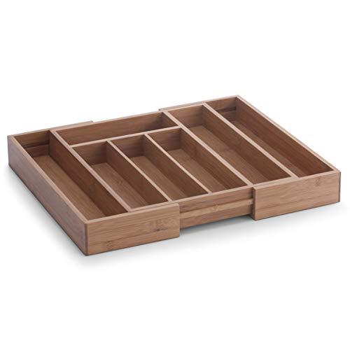Zeller 25322 Besteckkasten, ausziehbar, Bamboo, ca. 29-40 x 33,5 x 5 cm