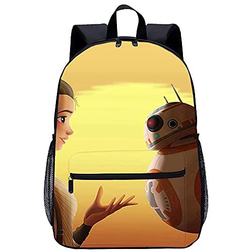 QULONG Star Wars 7: The Force Awakens BB 8 Rucksäcke 3D-Druck Bookbags College Rucksack Laptop Rucksack Schul Rucksack Casual Wandern Daypack Leichte Multifunktions-Rucksack