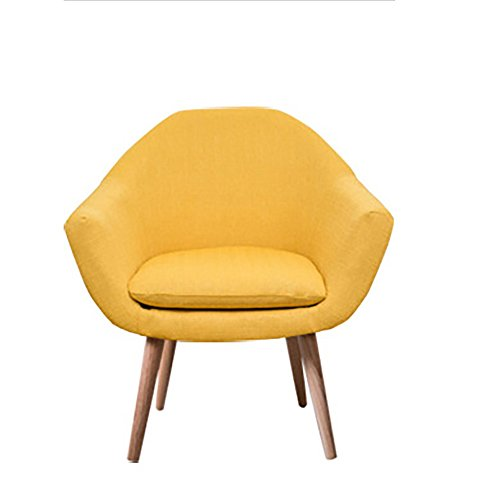 G-Y Sofa Paresseux, Nordique Petite Taille Simple Moderne Salon Canapé Unique, Chambre Balcon Petit Canapé (lin) (Couleur : Le jaune)