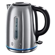 The brushed stainless steel kettle heats up quickly is easy to clean and will not discolour regardless of use or age Quiet boil technology makes this a hot favourite for people in open plan living spaces busy households and those who value peace and ...